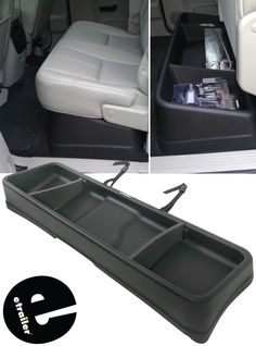 This large capacity cargo box is perfect for storing jumper cables, tools and all sorts of supplies under the back seat of your Chevy Silverado. Removable dividers let you create separate compartments within the box. 2010 Chevy Silverado, Silverado Truck, Chevy Chevrolet, Truck Accesories, Truck Bed Accessories, Chevy Trucks Older, Classic Chevy Trucks, Jeep Wrangler Accessories, 2016 Chevy Silverado Accessories