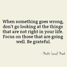 When something...