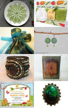 Garden of Greens by Diana on Etsy--Pinned with TreasuryPin.com