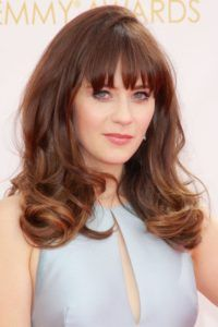22 deep straight bangs with point cut tips