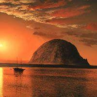 Morro Bay Rock ~ Morro Bay, CA - San Luis Obispo County.We loved it there.