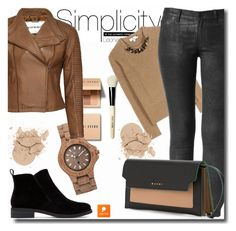 """""""Popmap 10"""" by goldenhour ❤ liked on Polyvore featuring Bobbi Brown Cosmetics, WeWood, Burberry and Lucky Brand"""