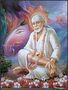 Hindu Lord Sai Baba sitting on throne with flower bouquet and wearing garland, A Hindu Religious poster Must for Home Decor/ Offices and Gift Purpose. Android Wallpaper 4k, Mobile Wallpaper, Sai Baba Hd Wallpaper, Photo Wallpaper, 4k Hd, Hd 1080p, Shirdi Sai Baba Wallpapers, Hanuman Images, Durga Images