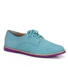Sapato Oxford Feminino Cravo E Canela 88501 - Verde - Passarela.com