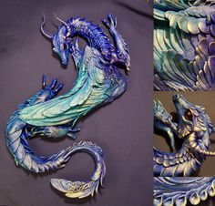 Oh my!  SO pearly and blue.  I can just see this guy crawling up my wall!