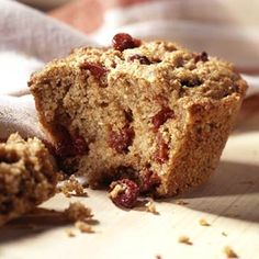 This whole grain, low-fat muffin is good for breakfast on the go.