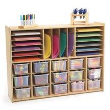 I'm organizing art supplies this week and wish we had the space for this!