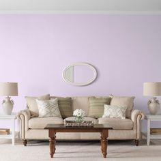 Glidden High Endurance, Interior Paint and Primer, Pale Purple Clouds, # 30RB 68/084, Flat, Quart