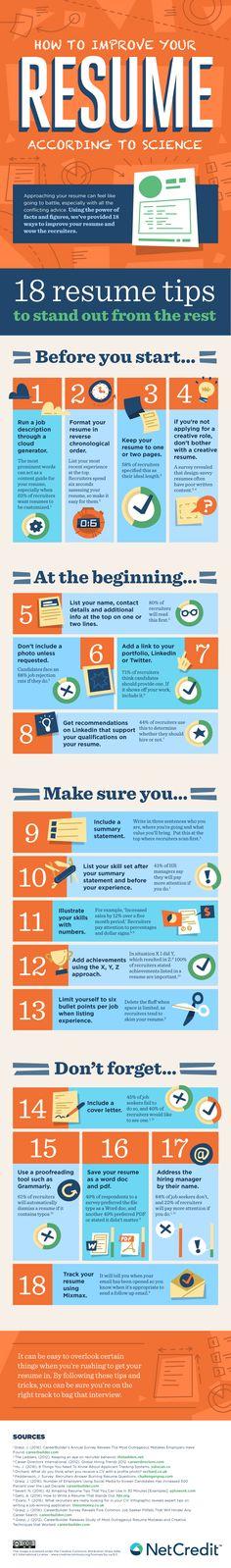 130 best CV Tips images on Pinterest Resume tips, Career advice