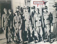 """En la foto aparece un voluntario a las """"SS"""",ex-legionario de la división """"Azul"""",llamado Lorenzo Ocañas que tuvo una destacada actuación desde Normandía,como en las Ardenas y en la defensa de Berlín y prisionero de los rusos por espacio de diez años."""