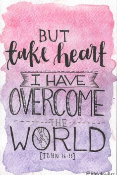 Take Heart Postcard // John 16:33 via Jillehdoodles. Click on the image to see more!
