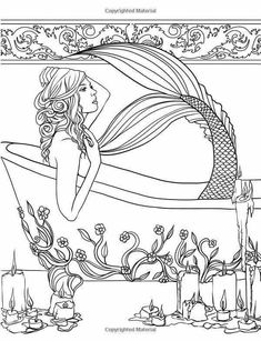 Mermaid Coloring Book for Adults Lovely Mermaids Calm Ocean Coloring Collection Selina Fenech Coloring Pages For Grown Ups, Adult Coloring Book Pages, Free Coloring Pages, Printable Coloring Pages, Coloring Sheets, Coloring Books, Colorful Drawings, Colorful Pictures, Mermaid Coloring Book