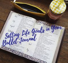 If you're looking for ways to set out your life goals in your bullet journal, then check out my 6 week planning challenge!  #bulletjournal #bujo #planner #lifegoals #goalsetting