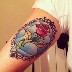 rose from Beauty and the Beast I want it on the top of my arm/shoulder area