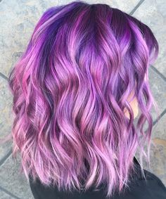 The Index of Hair: Photo Cute Hair Colors, Hair Color Purple, Cool Hair Color, Black Girls Hairstyles, Summer Hairstyles, Pretty Hairstyles, Pelo Multicolor, Blonde Dye, Purple Hair