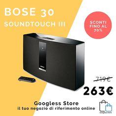 BOSE SOUNDTOUCH Serie II a soli 263! Comodo e super potente!!Cosa aspetti? Vieni a trovarci su googless.it - #tech #elettronica #googless #sconti #buyandshare #compensazione #business #iphone #x #apple #samsung #mac #gopro #hifi #acer #bose #asus #logitech #thule #moulinex #roomba #playstation #nintendo #switch #xbox #lg #fenix5 #fenix #soundtouch30
