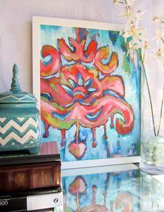 16x20 Artist Painting Print abstract artwork ikat artwork. $60.00, via Etsy.
