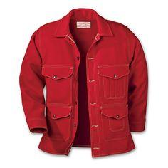 Filson Men's Scarlet Mackinaw Wool Cruiser Jacket - 1950s