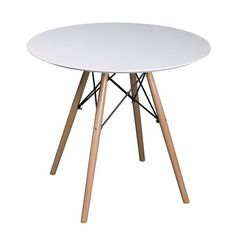 Buy ASPECT Como Round Dining Table With Beech Wood Legs, Wood, White. Free delivery and returns on eligible orders. Wooden Dining Tables, Glass Dining Table, Table Seating, Extendable Dining Table, Round Dining Table, Dining Room, Kitchen Dining, Table Legs, Table And Chairs