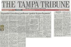 Jane Keeps it Off for 13 Years! | Tampa Tribune story about Easy Willpower's hypnosis success: