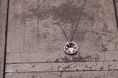 Halskette silber mit emaille SIMPLE 19 von MartaRudnicka auf DaWanda.com