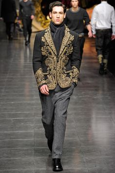 Loving the embroidery, in moderation.  Dolce & Gabbana - Fall 2012