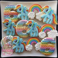 My Little Pony Cookies, Rainbow Dash Cookies