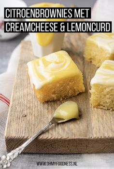 Fastfood Friday: Citroenbrownies met creamcheese en lemoncurd – OhMyFoodness Fast food Friday: Lemon brownies with cream cheese and lemon curd – OhMyFoodness Baking Recipes, Cake Recipes, Dessert Recipes, Dutch Recipes, Milk Recipes, Cookie Desserts, No Bake Desserts, Health Desserts, High Tea