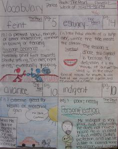 "My 7th graders all end the year reading & comparing two Steinbeck novellas. Rylee--seventh grade-- shares four of her eight words from last week that came from ""The Red Pony,"" which won her a ""Vocabulary Collector of the Week"" award.  Rylee...come by and take up to five prizes from the extra credit prize bucket! Check out my free-to-access vocabulary resources online: http://corbettharrison.com/Vocabulary.htm"