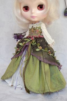 """""""Forest Fairy"""" for Yi Ting by kikihalb Blythe clothes : tutorial : Kikihalb ♧ Forest~Tales ♧"""