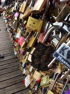 The love lock bridge in Paris- Emma