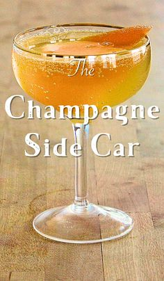 A recipe for the elegant classic cocktail, the Champagne Sidecar, with cognac, Cointreau, lemon juice and Champagne.