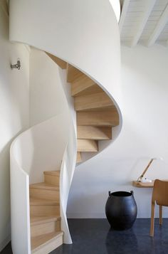 Beautiful architectural staircase . . . .leading to Ella's bedroom?!