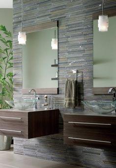 Bathrooms - Beiges & Browns  #plants