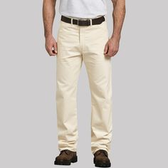 97ee33f04e Dickies Men's Relaxed Straight Fit Trousers - Off White 38x34 Gender: Male.  Age Group