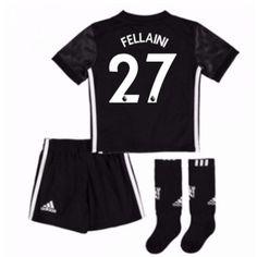 b45978c6dd6 Manchester United Marouane Fellaini 27 kläder Barn 17-18 Bortatröja  Kortärmad  Billiga fotbollströjor