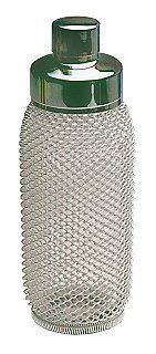 1930's Style Shaker by Kovocas. $39.95. Mesh Look. Shaker 1930's style. Can a cocktail shaker be sexy? Our new 1930's style shaker not only brings a sense of nostalgia to your bar, but a great look too. Shake, rattle and roll!
