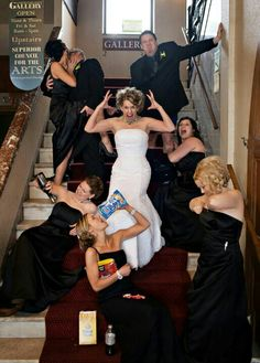 Funny wedding photos. Worst bridesmaids ever. - for mor gerat ideas and inspiration visit us at Bride's Book
