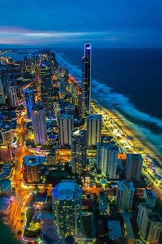 Australia after Dark. The Gold Coast, Queensland, Australia Places Around The World, Oh The Places You'll Go, Places To Travel, Places To Visit, Around The Worlds, Dream Vacations, Vacation Spots, Vacation Destinations, Coast Australia