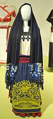 Traje Purepecha Dress Mexico (Teyacapan) Tags: mexico clothing embroidery mexican museo michoacan ropa purepecha trajes indumentaria rebozo
