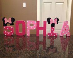 Minnie Mouse personalizado nombre Letras precio es por cada