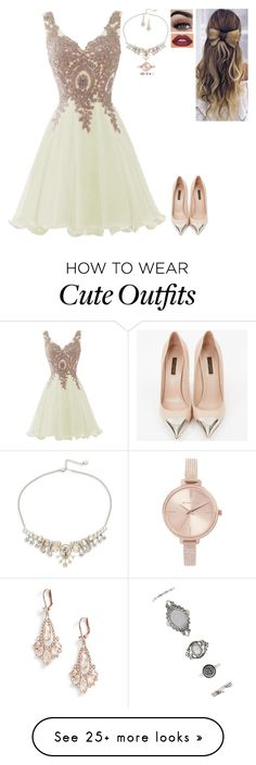 """Random Outfit"" by nataliaace on Polyvore featuring Louis Vuitton, Michael Kors, Swarovski, Forever 21 and Kate Spade"