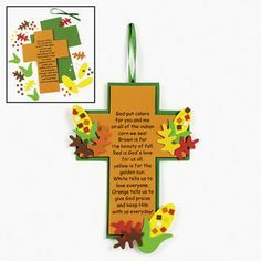 Indian Corn Legend Cross craft for kids.