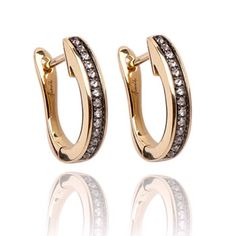 Eclipse porcupine hoop earrings- 18ct yellow gold and diamonds. #hoopearrings