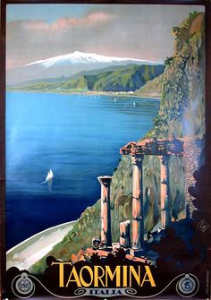 Mario Borgoni Taormina poster