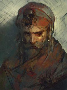 A Dark Glance, Sam Hogg on ArtStation at https://www.artstation.com/artwork/6Z38n