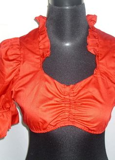 Kaufe meinen Artikel bei #Kleiderkreisel http://www.kleiderkreisel.de/damenmode/blusen/59250466-rote-dirndl-bluse-in-grosse-l-4042