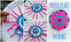 paper plate weaving...how to...