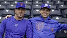 Matt Harvey (let) and David Wright.