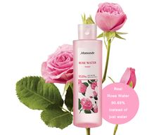 $17 MAMONDE Rose Water Toner 250ml            Features  Moist Rose water toner with rose water 90.89% instead of water. Soothing and moisturizing toner. Synthesis pigment, animal ingredient, mineral oil FREE. Damask rose water 90.89%
